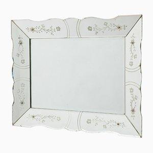 Specchio Art Deco rettangolare