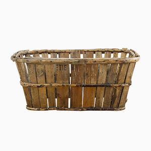 Französischer Vintage Austernkorb aus Holz
