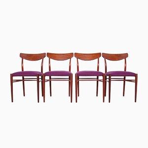 Mid-Century Esszimmerstühle von Luebke, 1960, 4er Set