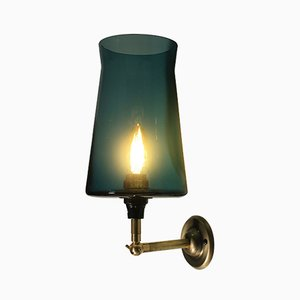 Teal Waisted Hardwire Wall Lamp by One Foot Taller
