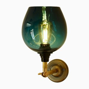 Teal Bell 125 Hardwire Wall Lamp by One Foot Taller