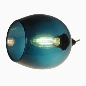 Teal Bell Push Table Lamp by One Foot Taller