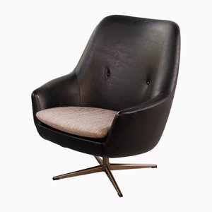 Vintage Club Chair with Skai Cover, 1960s