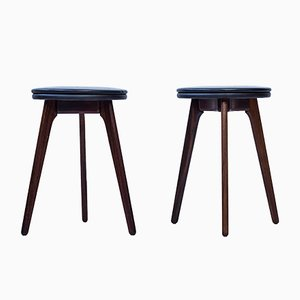 Vintage Stools by Erik Buch for Oddense Møbelsnedkkeri, 1960s, Set of 6