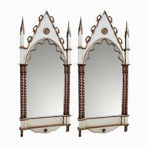 Miroirs Dorés Gothiques, Écosse, 19ème Siècle, Set de 2