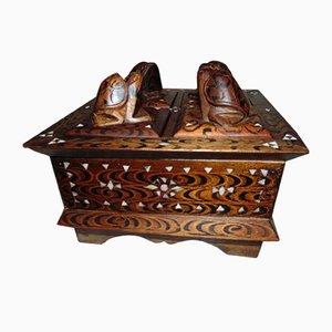 Caja de madera vintage, años 30