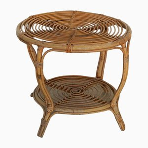 Vintage Italian Rattan & Wicker Coffee Table