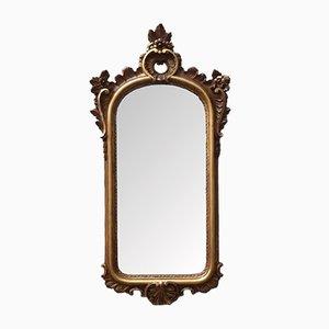 Espejo de pared italiano vintage dorado, años 20