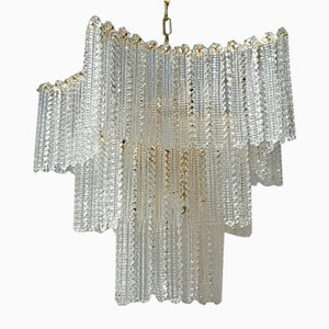Vintage Murano Glass Chandelier, 1980s
