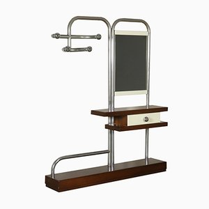 Italian Coat Rack with Mirror and Drawer, 1970s
