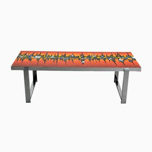 Mid-Century Enamelled Coffee Table from De Nisco, 1970s