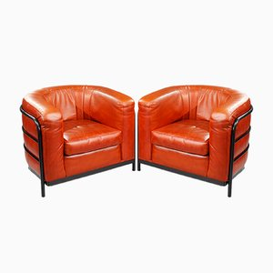 Vintage Italian Leather Onda Armchairs by Zanotta, 1980s, Set of 2
