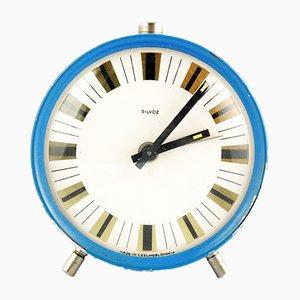 Reloj despertador mecánico de Silvos Czechoslovakia, años 60