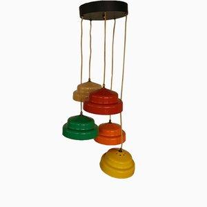 Lámpara de araña italiana Mid-Century, años 70