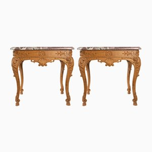 Regency Style Console Tables, 1940s, Set of 2