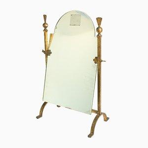 Mid-Century Spiegel mit Rahmen aus Gusseisen