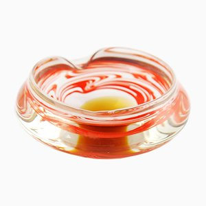 Czechoslovakian Glass Ashtray from Skrdlovice Sklarna, 1960s