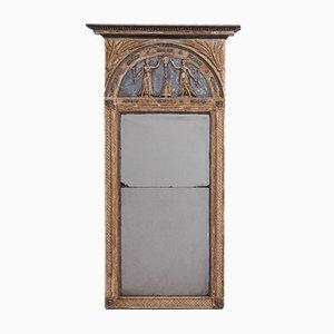 Großer antiker schwedischer gustavianischer Spiegel