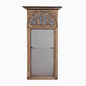 Large Antique Swedish Gustavian Mirror