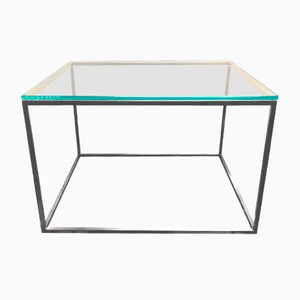 Table Basse Cube en Verre et Laiton de GO.OUD-Furniture