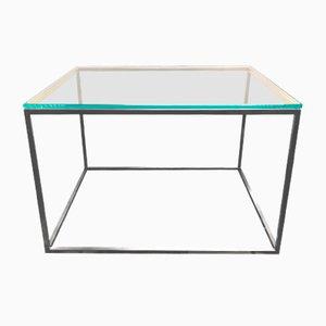 Tavolino da caffè in vetro e ottone di GO.OUD-Furniture