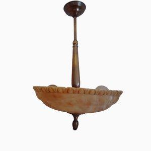 Alabaster Ceiling Lamp, 1940s