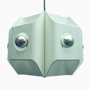 Lámpara de techo de aluminio de Klaus Hempel para Kaiser, años 60