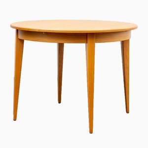 Round Extendable Ash Dining Table, 1960s