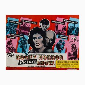 Póster vintage de la película The Rocky Horror Show de John Pasche, 1975