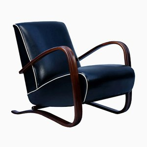 Leather H269 Lounge Chair by Jindřich Halabala for UP Závody, 1930s