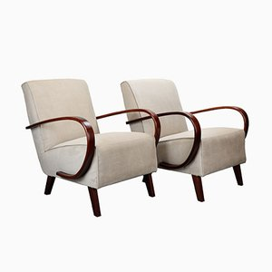 No. 2 Armchairs by Jindřich Halabala for UP Závody Brno, 1930s, Set of 2
