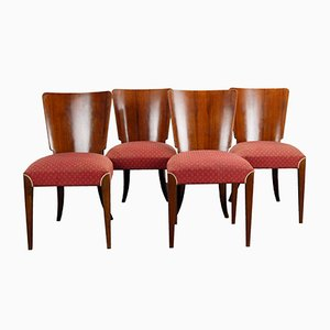 Art Deco H-214 Dining Chairs by Jindrich Halabala for UP Závody, 1930s, Set of 4