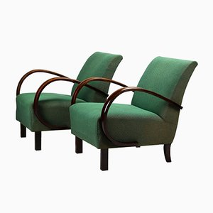 Art Deco Armchairs by Jindrich Halabala for UP Závody, 1930s, Set of 2