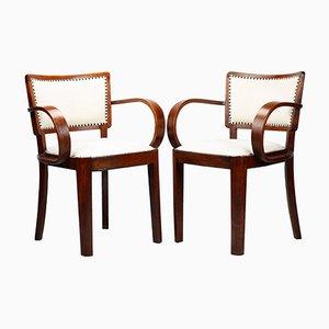 Art Deco Armlehnstühle von Thonet, 2er Set