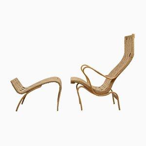 Swedish Pernilla Lounge Chair by Bruno Mathsson for Karl Mathsson, 1950s