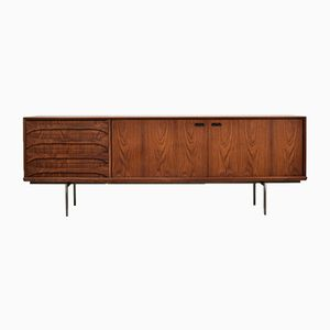 Belgian Rosewood Sideboard by Oswald Vermaercke for V-Form, 1950s