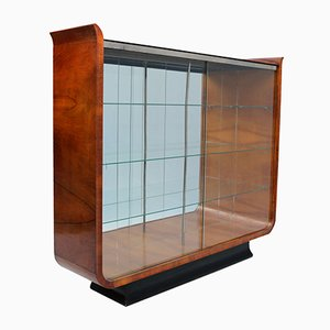 Art Deco Tulip Display Cabinet by J. Halabala for UP Zavody Brno, 1930s