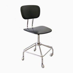 Chaise de Bureau Noire, Allemagne, 1960s