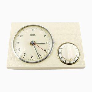 Reloj de cocina de cerámica con temporizador de Diehl, años 60
