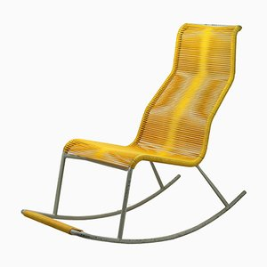 Mid-Century String Tubular Rocking Chair, 1960s