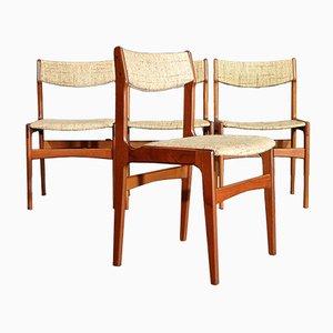 Dänische Mid-Century Stühle mit Gestell aus Teak von Erik Buch, 4er Set