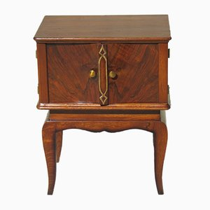 Oak & Walnut Nightstand, 1950s