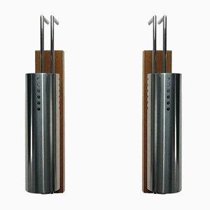 Lámparas de pared francesas, 1968. Juego de 2