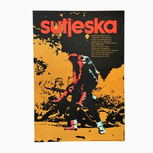Affiche de Film The Battle of Sutjeska Vintage par Vladimír Venice, 1973