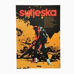 Vintage The Battle of Sutjeska Filmplakat von Vladimír Venice, 1973