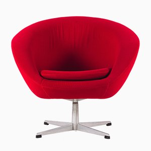 German Red Swivel Armchair, 1970s