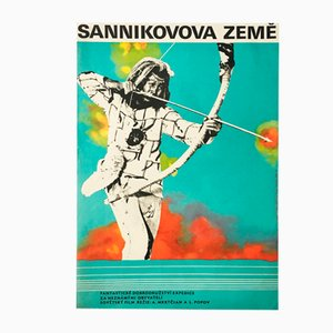 Vintage The Sannikov Land Movie Poster by Olga Franzová, 1973