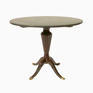 Tavolino rotondo in marmo di Paolo Buffa, anni '40