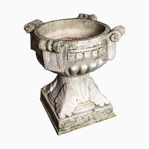 Pila de agua bendita Art Déco de mármol, años 20
