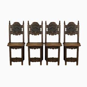 Antike französische dekorative Stühle, 4er Set